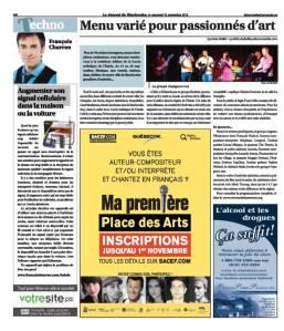 Journal de Sherbrooke, cuvée 2013