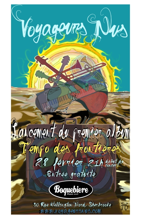 Invitation au lancement du 1er album des Voyageurs Nus