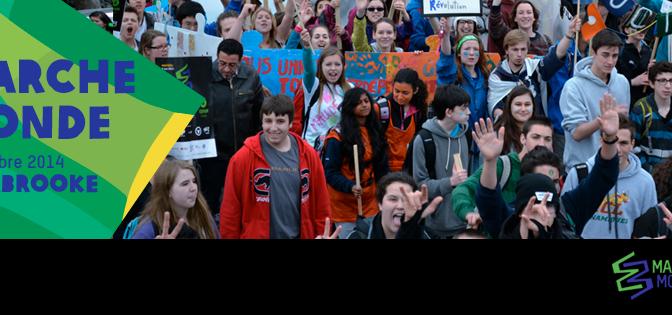 Marche Monde 2014 à Sherbrooke